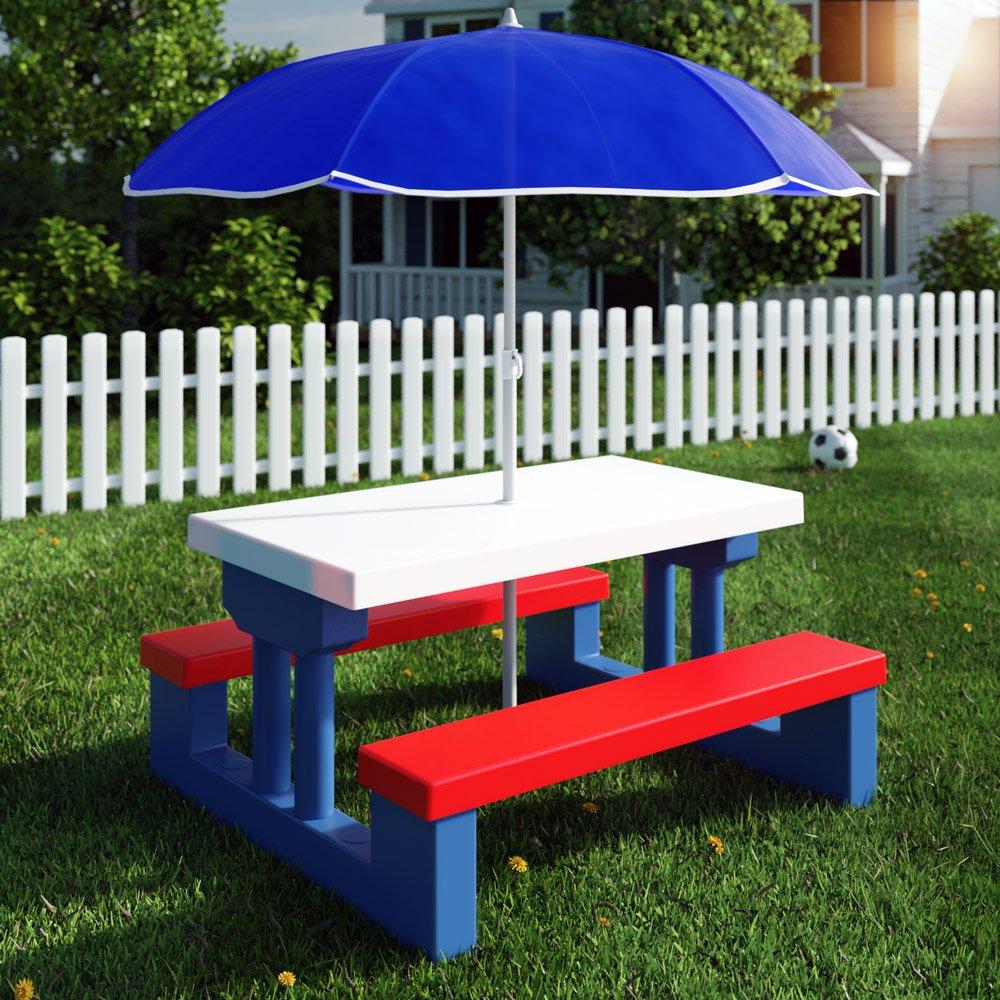 Kindersitzgruppe für drinnen und draußen inkl. Sonnenschirm ...