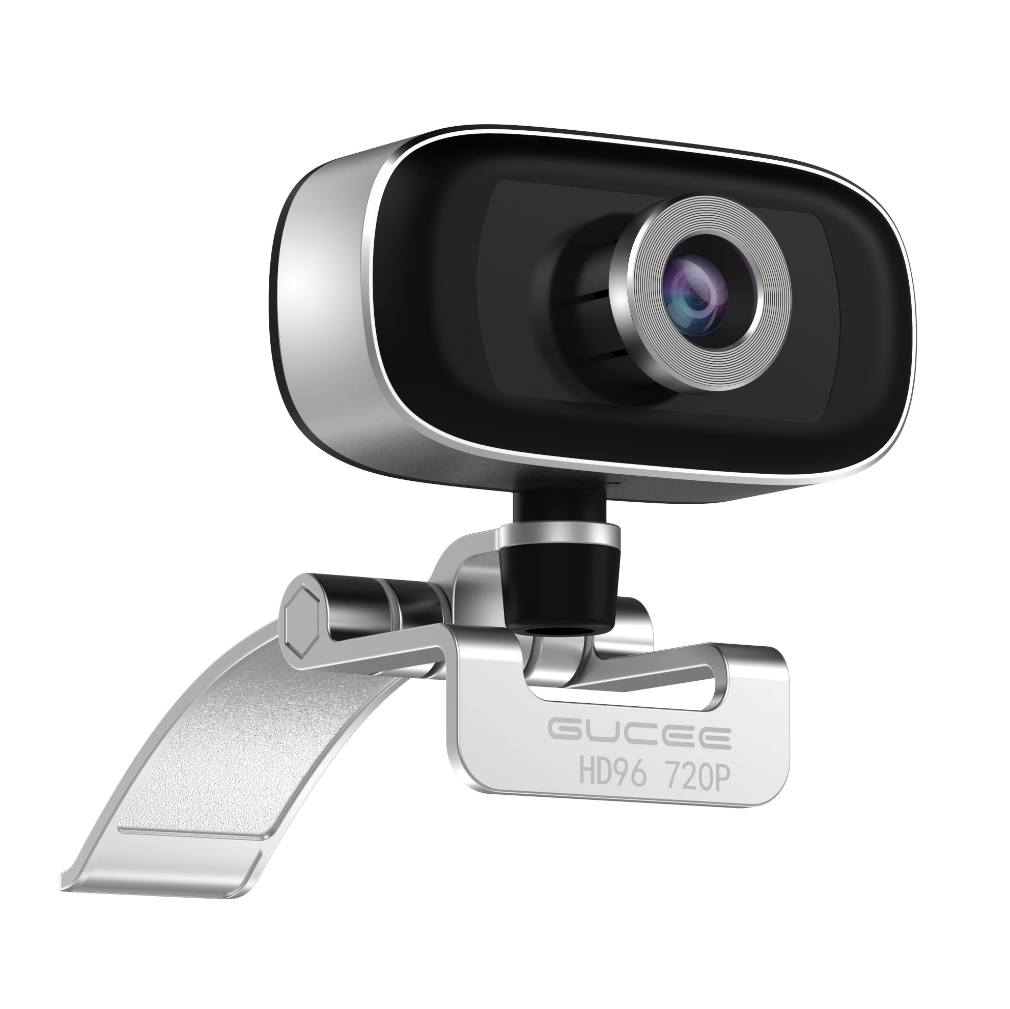 GUCEE HD96 720P HD Webcam with Tripod Ready Base (Tripod Not Included), Web Camera HD Microphone Wide Angle USB Plug and Play, Widescreen Calling Recording for Skype, Win 7 / 8 / 10, Apple Mac OS X by iRush (Image #2)