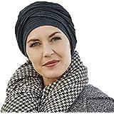 Gorro y banda Isolde de algodón color gris antracita para mujeres en  tratamiento de quimioterapia a588671816d