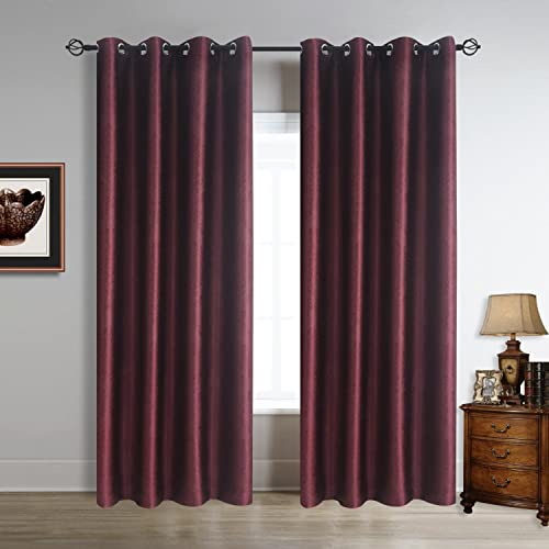 Cheap Cherry Home Thermal Insulated Blackout Window Curtains Panels Drapes window curtain panel for sale