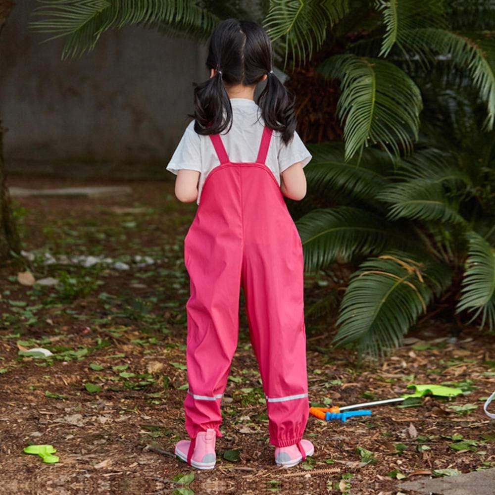 hhalibaba 2019 Rain Boys Tuta PU Pantaloni Sportivi Impermeabili per Ragazze Pantaloni Larghi per Bambini Pagliaccetto per Bambini