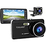 TOGUARD 1080PフルHD デュアルドライブレコーダー 前後カメラ 4.0インチ 同時録画 駐車監視 バックカメラ