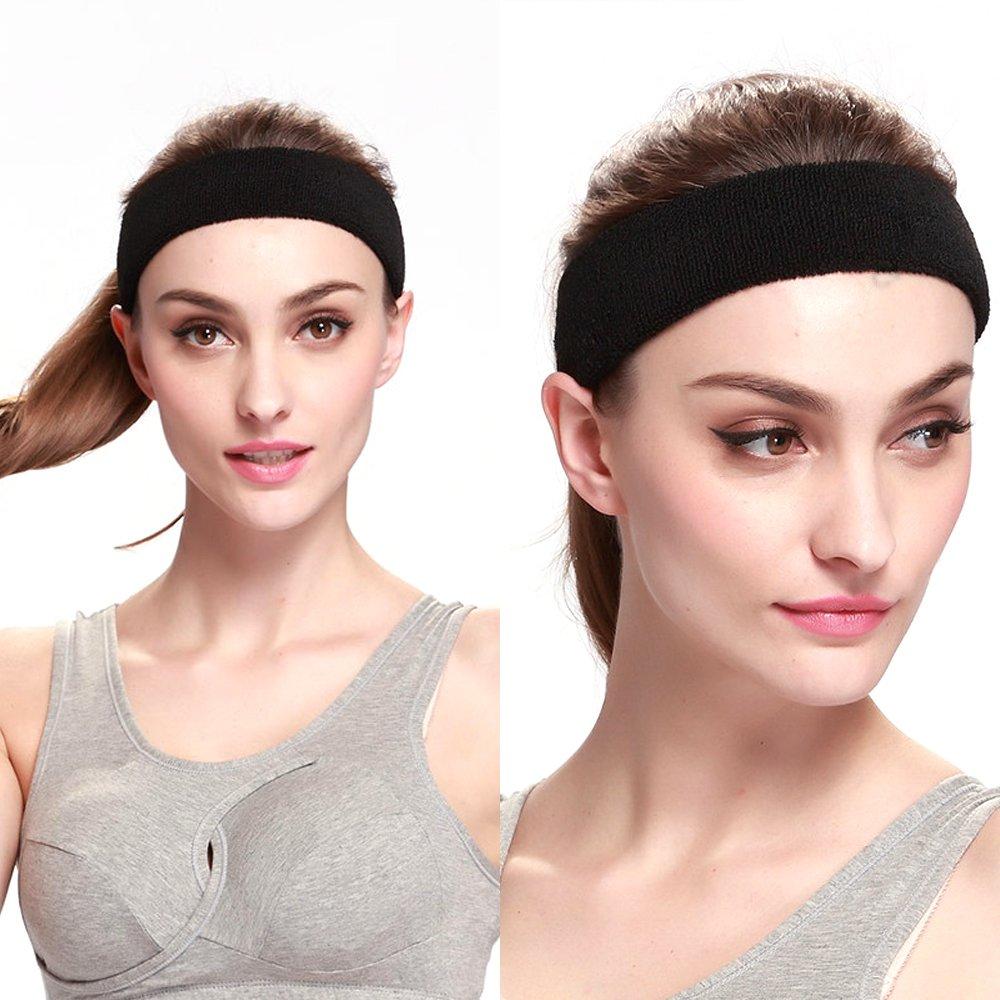 Volleyball Anti- Rutsch Kopf schweissband,Yoga Atmungsakti Stirnband Elastisch HaarbandJoggen Yoga Fitness YUANQIAN Sport Stirnband Schwei/ßband Radfahren f/ür Damen und Herren