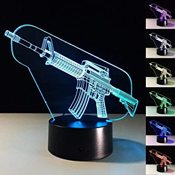 Amazon.com: superniudb Creative Regalos Pistola Lámpara ...