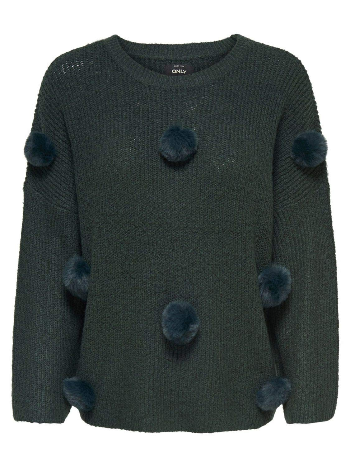 Only Women's 15160707GREEN Green Acrylic Sweater