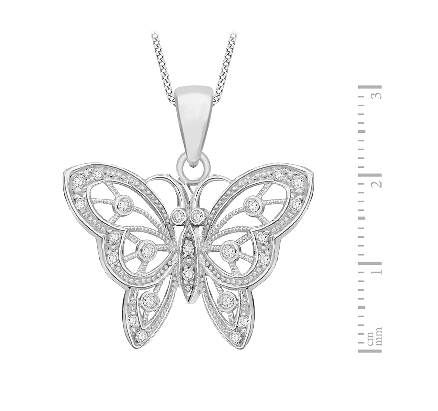 tuscany silver sterling silver fancy cubic zirconia butterfly