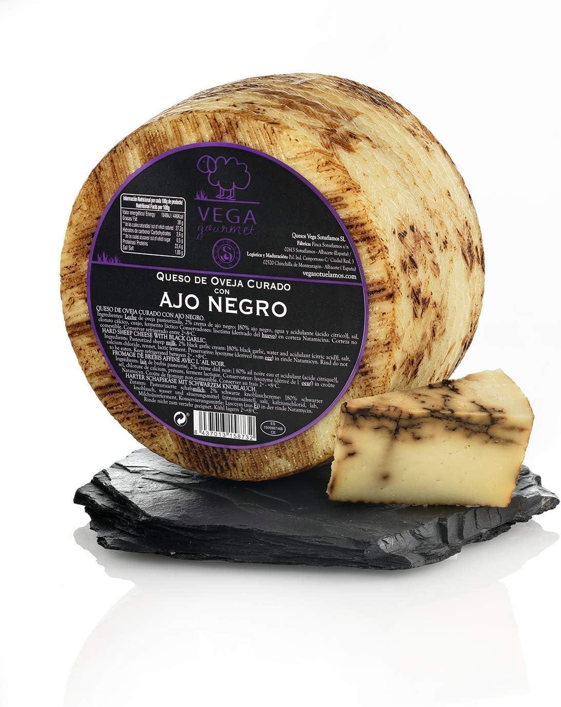 Queso de Oveja con Ajo Negro Vega Gourmet 3,4 Kg: Amazon.es: Alimentación y bebidas