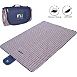 MIUCOLOR Large Waterproof Outdoor Picnic Blanket, Sandproof and Waterproof Picnic Blanket Tote for Camping Hiking Grass Travelling Dual Layers