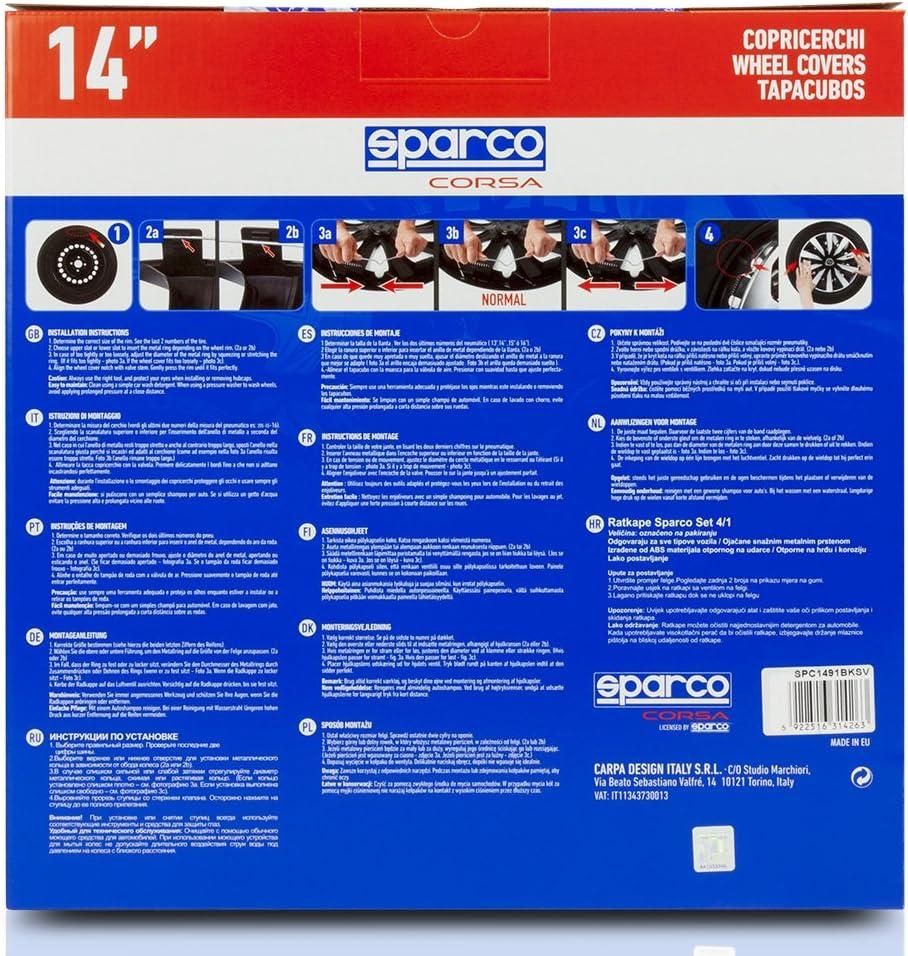 14 Sparco SPC1490GR Copricerchi Lazio Grigio Set da 4