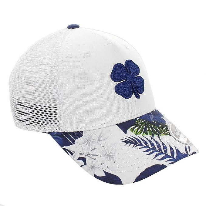 427a55e4 Amazon.com: Black Clover Live Lucky Tropical Luck Adjustable Golf Cap Hat  (# 5 - White/Navy): Clothing