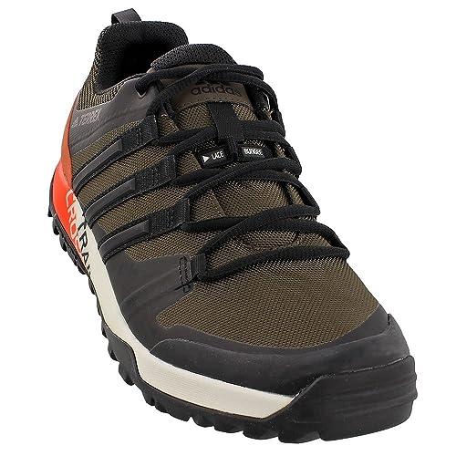adidas Men's Terrex Trail Cross Hiking Shoe, UmberBlack