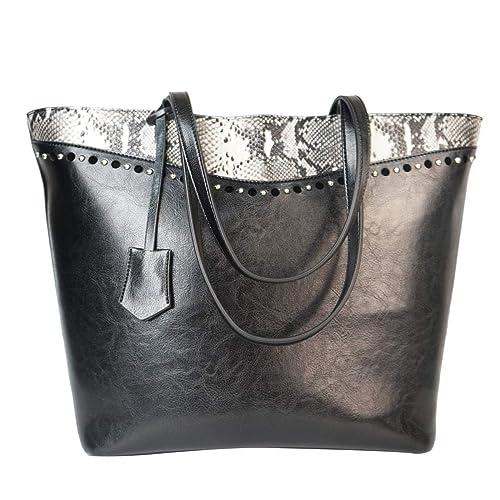 Amazon.com: Bolso de mano de diseño con asa superior, bolso ...