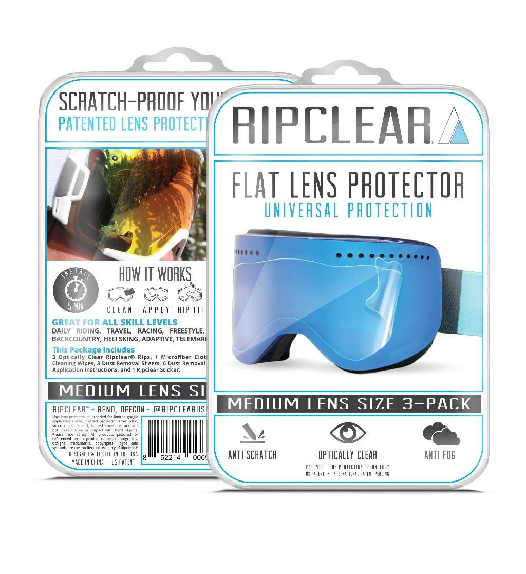RIPCLEAR Anon M3/MFI Snow Goggle Lens Protector Kit - Scratch-Resistant, Crystal Clear - 3-Pack by RIPCLEAR