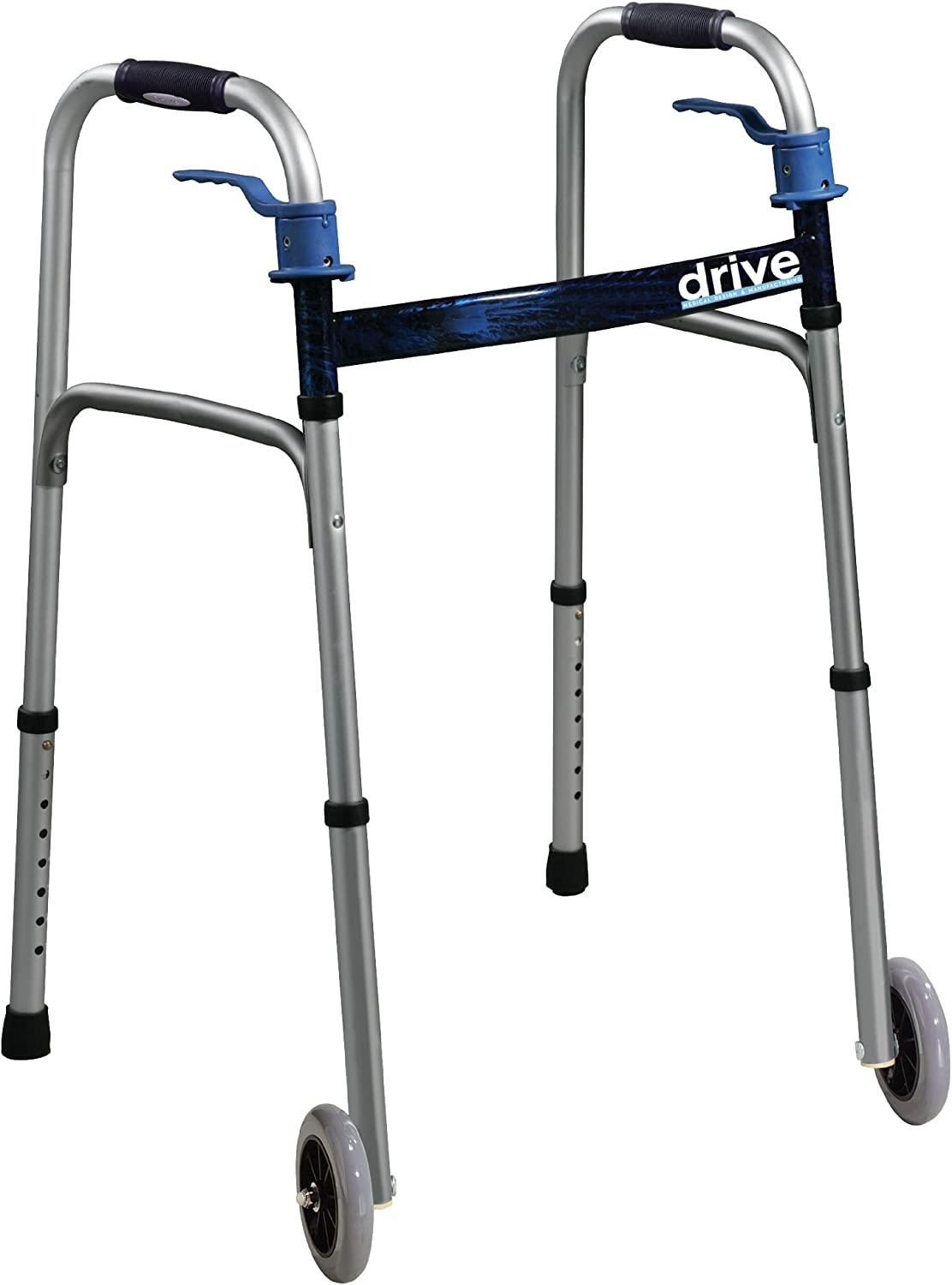 B0041POQCS Drive Medical Trigger Release Folding Walker, Brushed Steel 71HPNt50U2L