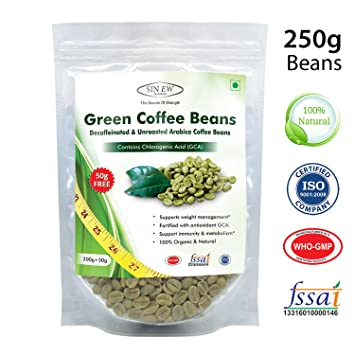 Coffee Beans Online >> Amazon Com Sinew Nutrition Green Coffee Beans Decaffeinated