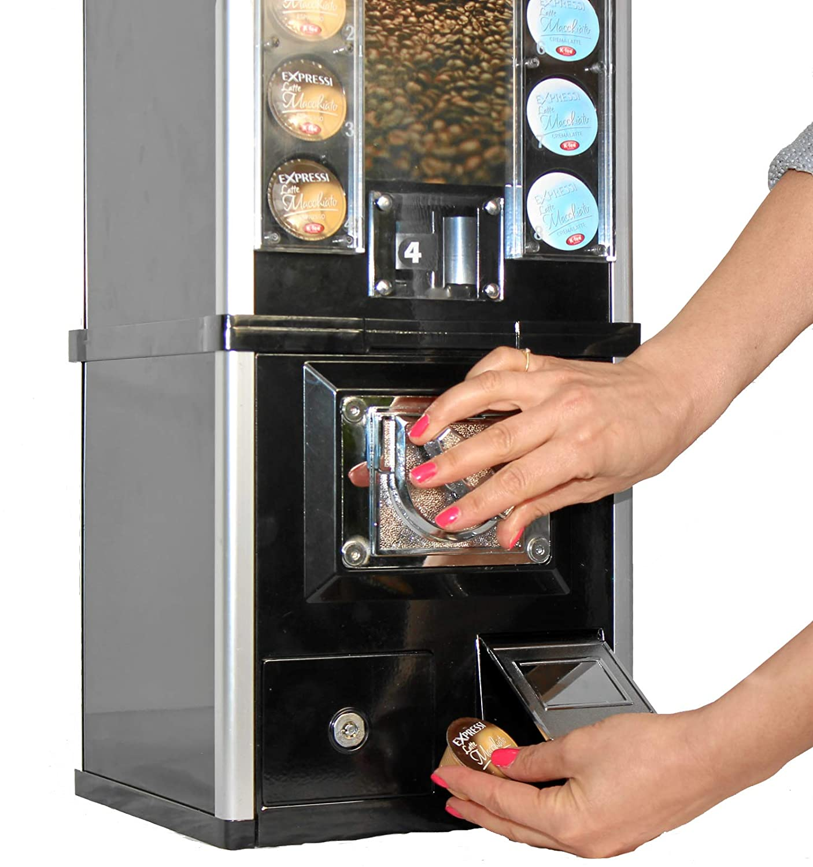 Cafetera automática para cápsulas de café, monedas, cafetera ...