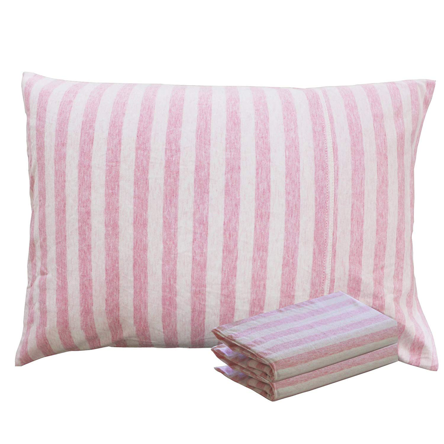 NTBAY 100% Organic Cotton Toddler Pillowcases Set of 2, Soft and Breathable, 13''x 18'', Pink