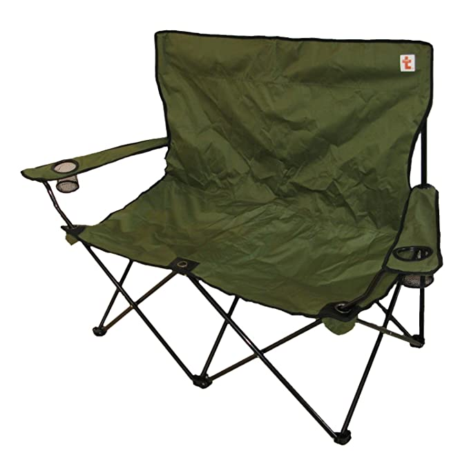 Astounding Trottybrand Double Folding Camping Chair Big Strong Pabps2019 Chair Design Images Pabps2019Com