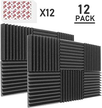 Amazon.com: DEKIRU paneles de espuma acústica, 1.0 x 12.0 x ...
