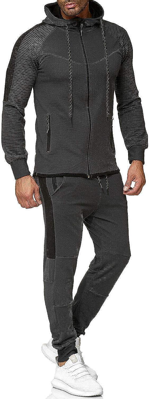 AOTORR Mens Athletic Casual Tracksuit Full Zip Jogging Sweatsuit Set for Men