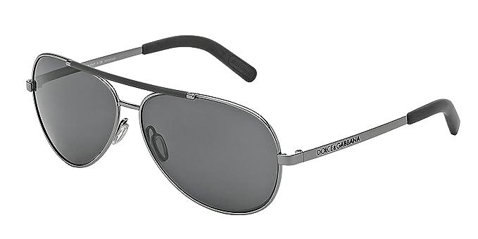 3063a65414d5 Dolce   Gabbana DG2141 Sunglass-04 81 Gunmetal (Polarized Gray Lens)-61mm   Amazon.in  Clothing   Accessories