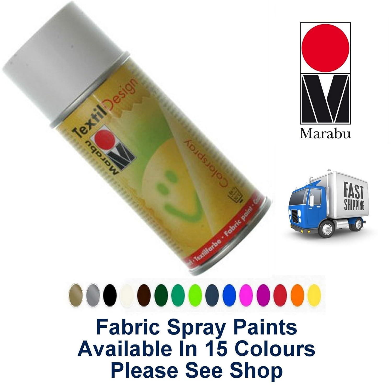 1 x White Fabric Spray Paint Marabu Textile Design 150ml Textil Clothes (070)