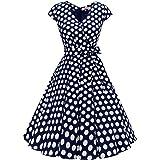 BeryLove Rockbilly - Vestido de cóctel para mujer corto de los años 50, estilo retro