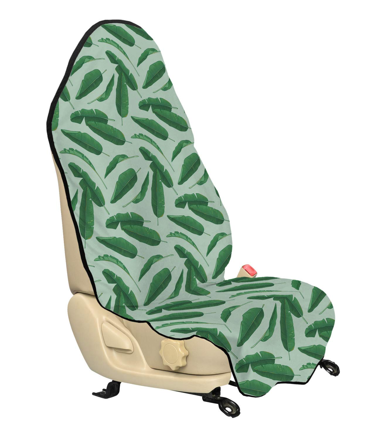 Multicolor Ambesonne Dragonfly Car Seat Cover Artistic Pattern with Dragonflies and Green Olive Branches Mediterranean Nature Car and Truck Seat Cover Protector with Nonslip Backing Universal Fit