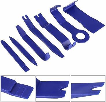 7x CAR TRUCK RADIO DOOR CLIP PANEL TRIM DASH AUDIO REMOVAL PLASTIC PRY TOOL KIT