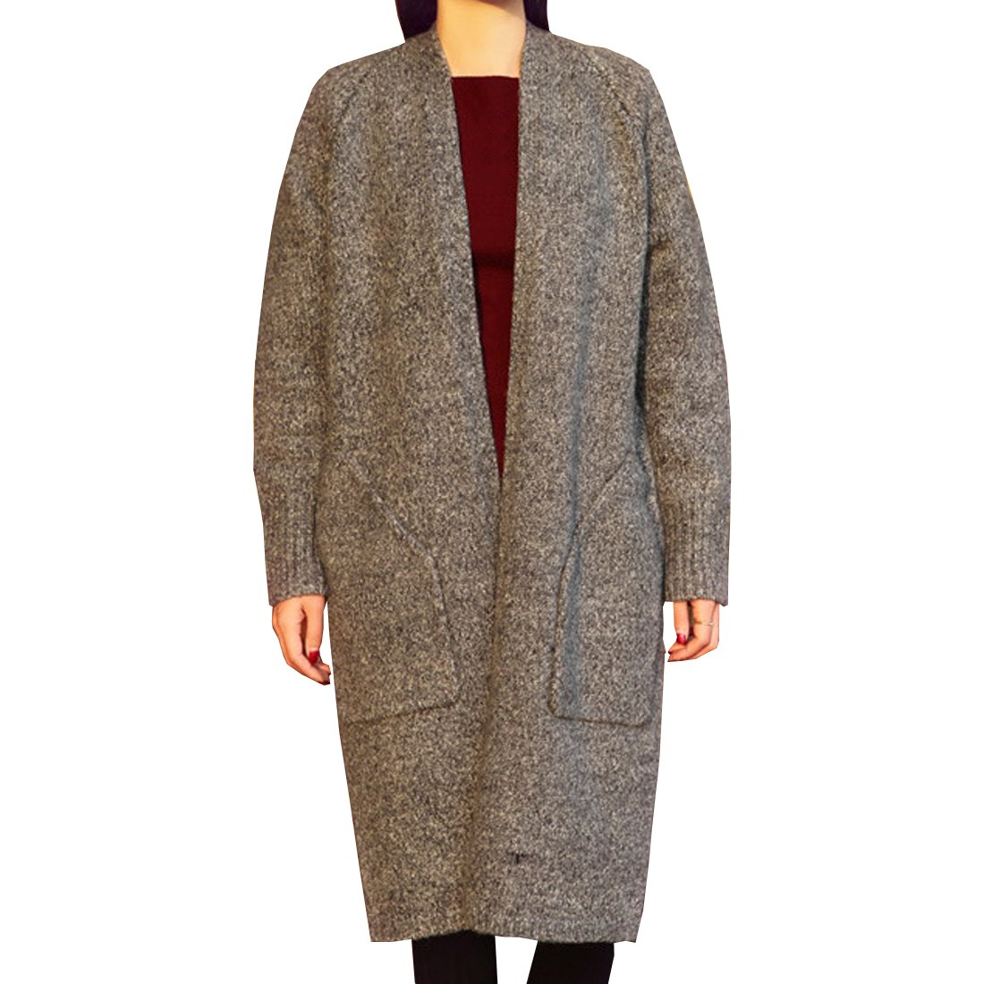 Partiss Women's Loose Sweater Coat with Pockets One Size Camel 20161006HTT02_1