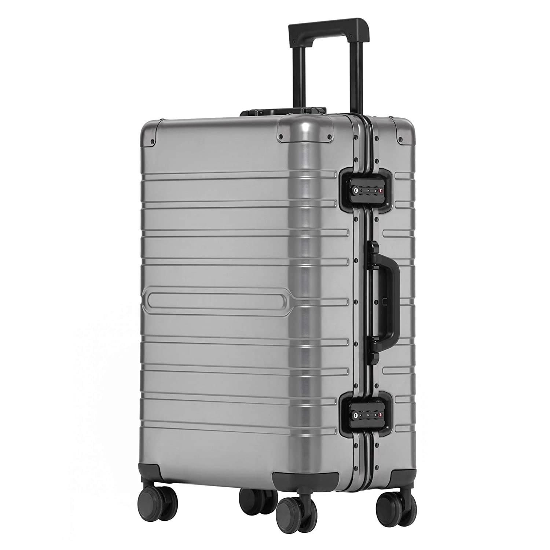 kroeus(クロース)スーツケース キャリーケース アルミマグネシウム合金ボディ TSAロック 8輪 マット仕上げ S型機内持込可 日本語取扱説明書 1年間保証付き 28 B07RLSJXKW