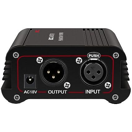 Amazon.com: BC Master BCM-PP01,1-Channel 48V Phantom Power ...