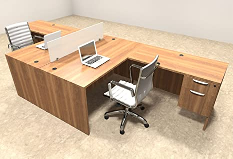 buy popular aaf94 dab00 Amazon.com : Two Person L Shaped Divider Office Workstation ...