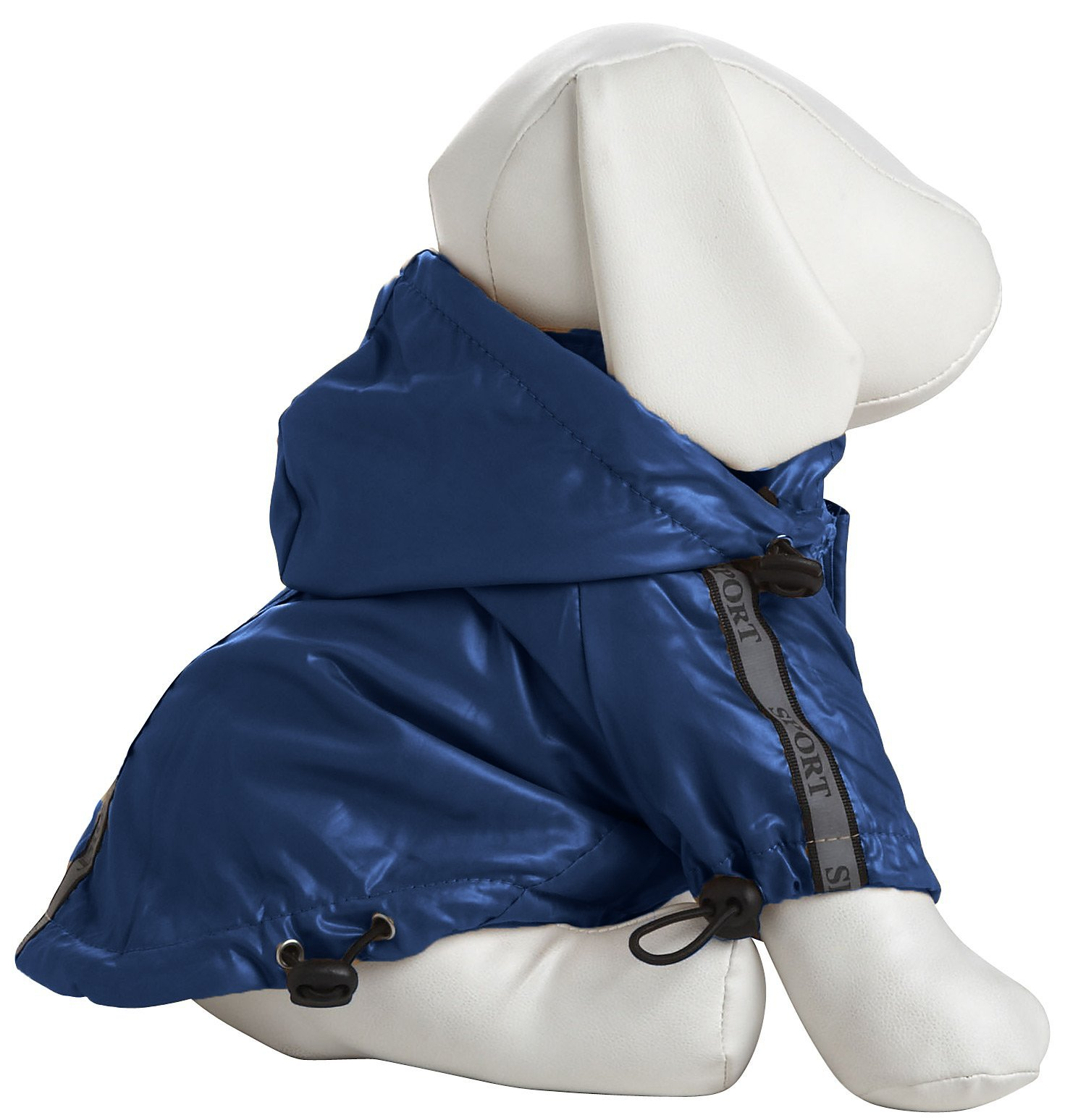 Pet Life Reflecta-Sport' Fashion Insulated Adjustable and Reflective Windproof Water-Resistant Pet Dog Coat Jacket Rainbreaker w/Removable Hood, Small, Dark Blue by Pet Life (Image #3)