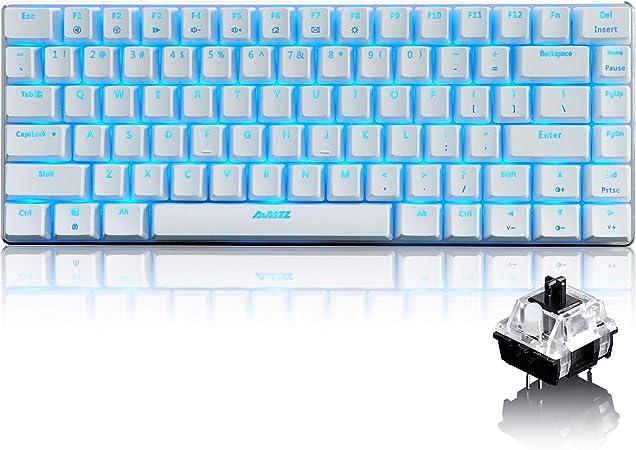 LexonElec@ - Teclado para juegos con cable Ajazz AK33 RGB con retroiluminación LED 82 teclas USB mecánico Pro Gamer Teclado para oficina Typistas ...