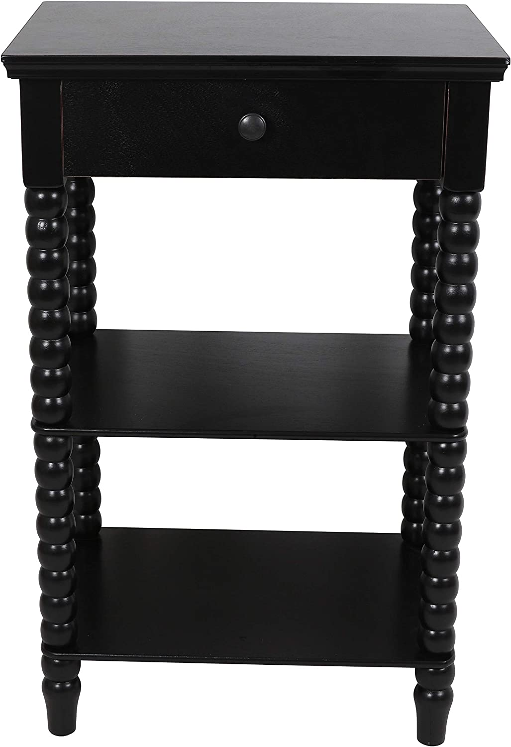 Decor Therapy Spindle Side Table, 19x14x30, Black