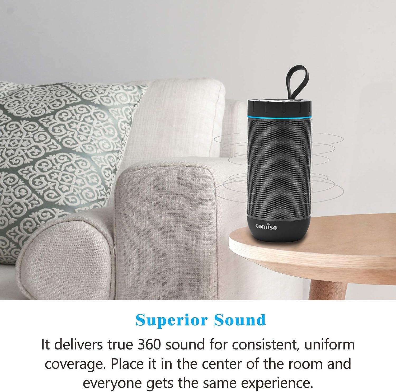 COMISO Waterproof Bluetooth Speakers Outdoor Wireless Portable Speaker