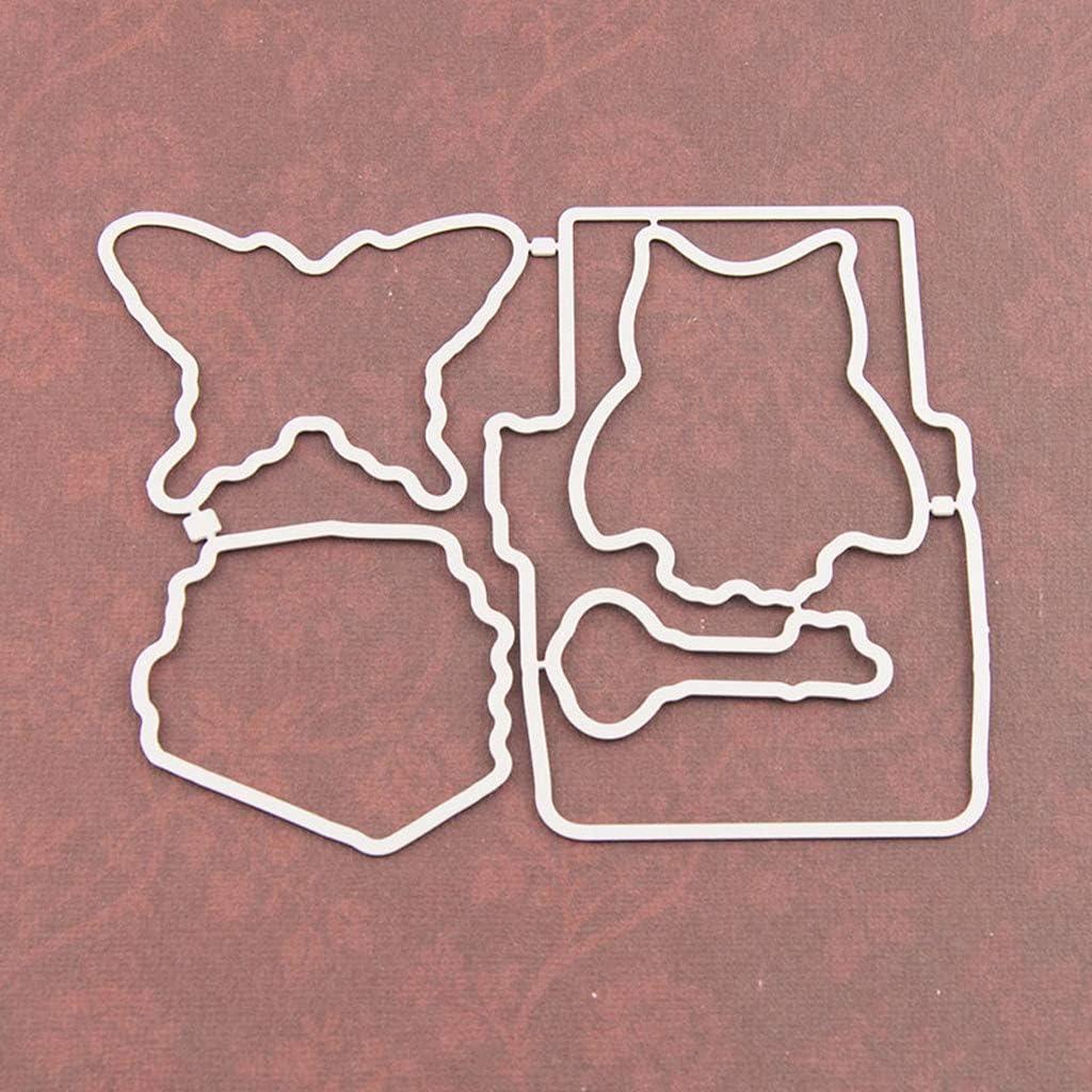 Motif dinsecte Hibou zhangcr Seal Clear Stamp avec Jeu de pochoirs Matrices de Coupe Timbres clairs et d/écoup/és /à la Forme