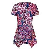 FORUU T Shirts for Women Short Sleeve Swing Tunic