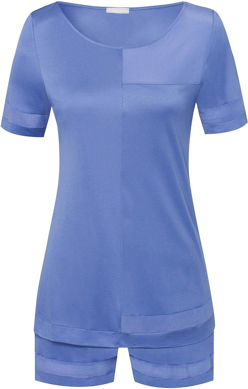 HANRO Women's Enna High material Sleeve Set Super-cheap Short Pajama