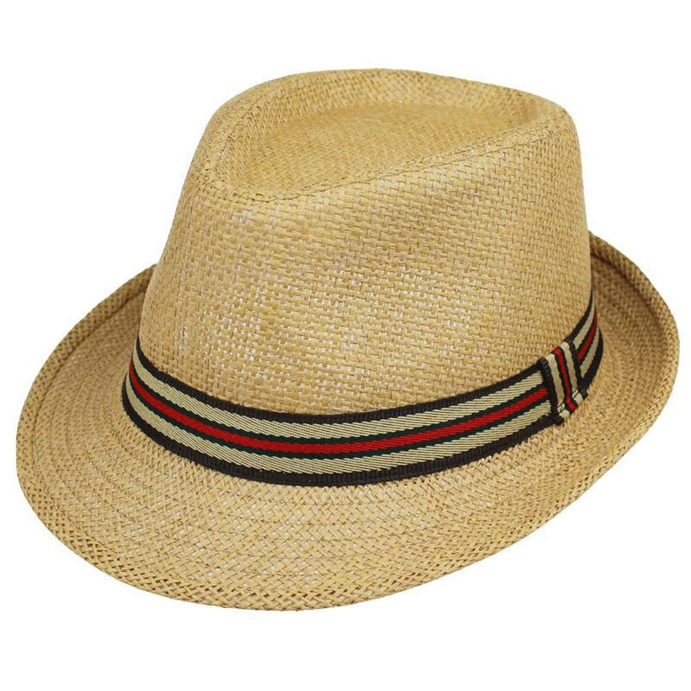 TRDyj Hat Spring Summer Sun Hat Straw Hat Jazz Cap Small Hat Men and Women Couple Beach Hat Visor (Color : Beige)