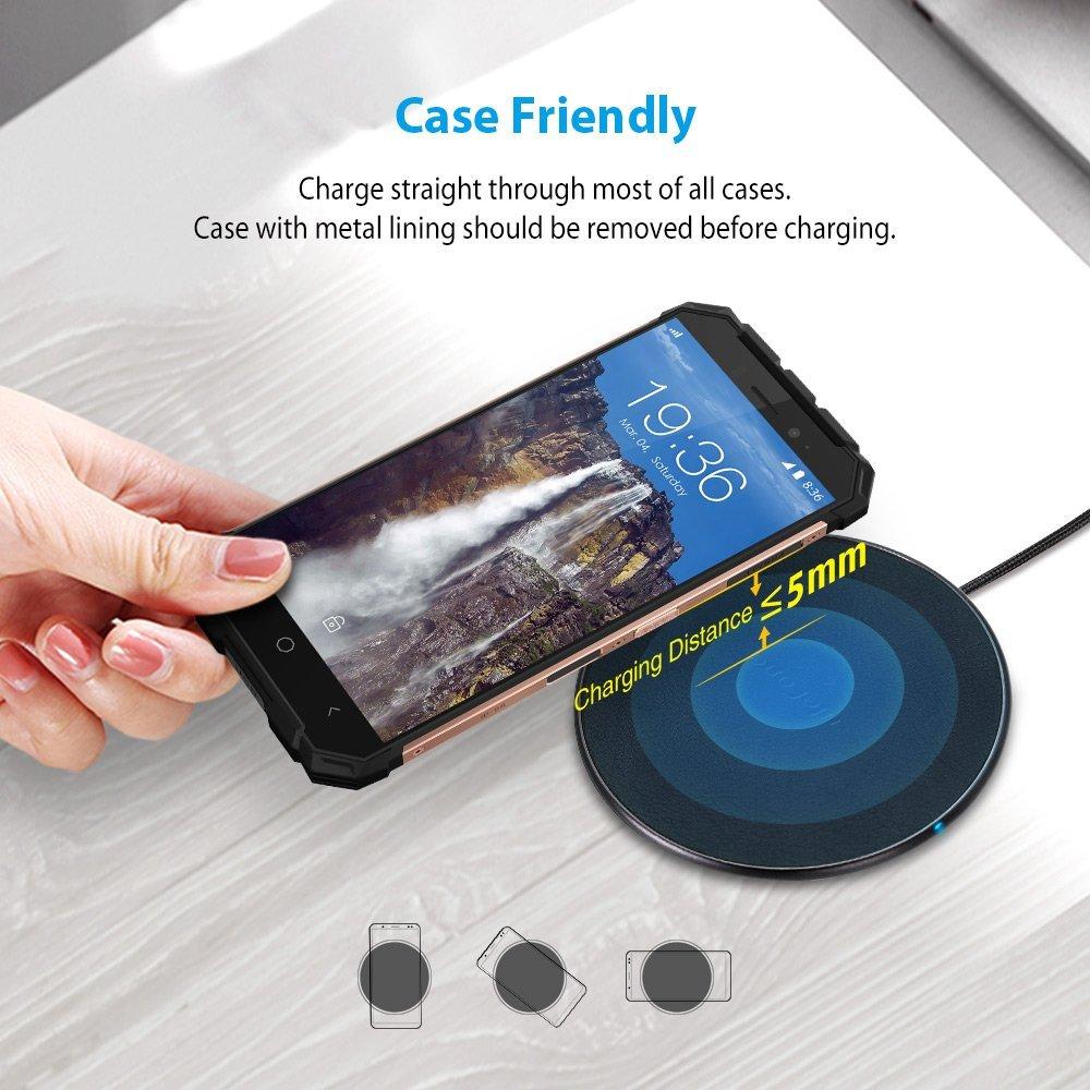 Ulefone - Cargador Inalámbrico UF002, Cargador Qi, Carga Inductiva sin Cable, Carga Rápida para Los Dispositivos con Qi