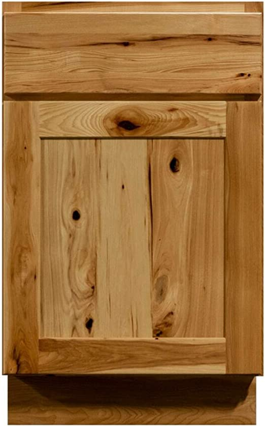 Amazon Com Ck Cabinetry 21 Hickory Bathroom Vanity Rustic Country Bathroom Furniture Cabinets 21 Inch Single Sink Base Vanities Kitchen Dining