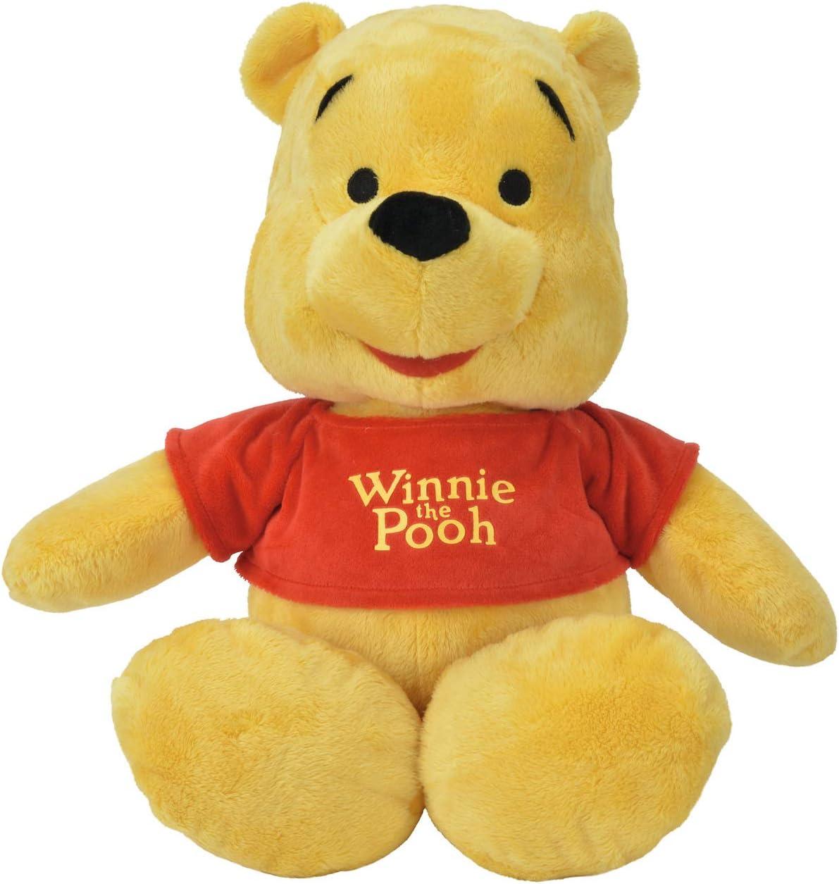 Simba- Winnie The Pooh Peluche 50cm, Color Rojo, Amarillo (6315875043)