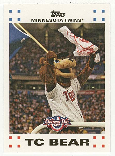 new style 6abc2 cc00c Amazon.com : Minnesota Twins Mascot: TC Bear (Baseball Card ...