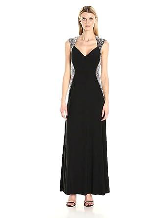 ae47791350 Cachet Women s Illusion Beaded Dress