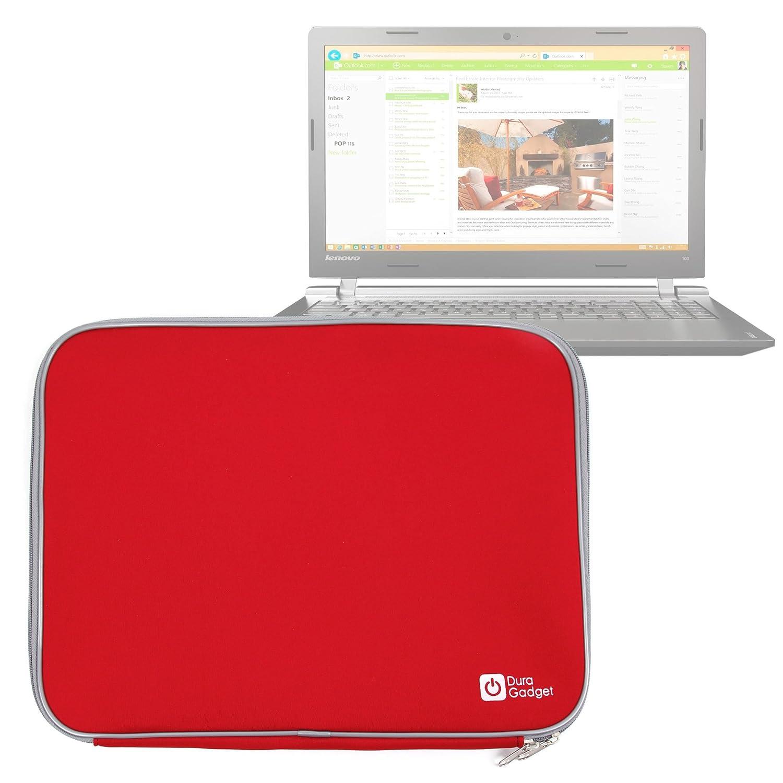 DURAGADGET Funda De Neopreno Roja para Portátil Lenovo IdeaPad 320 15