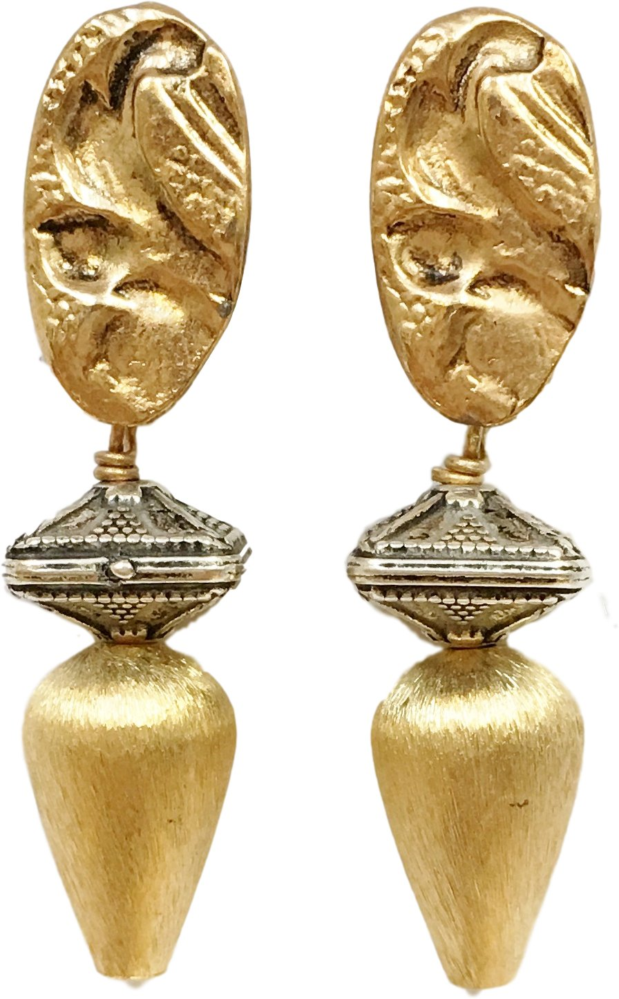 Shaune Bazner Gold-Plated Clip-on Earrings E-C7-27-GC