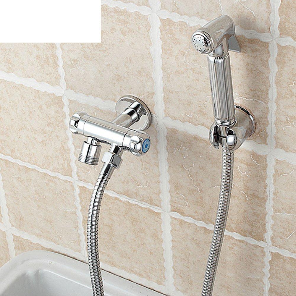 Special Flush Valve For Toilet With Spray Gun Tap Copper