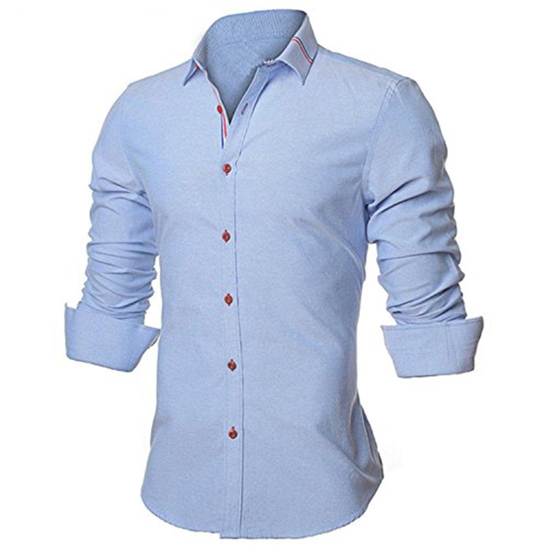 Kebinai Long Sleeve Casual Camisa Social Business Dress 5XL N352